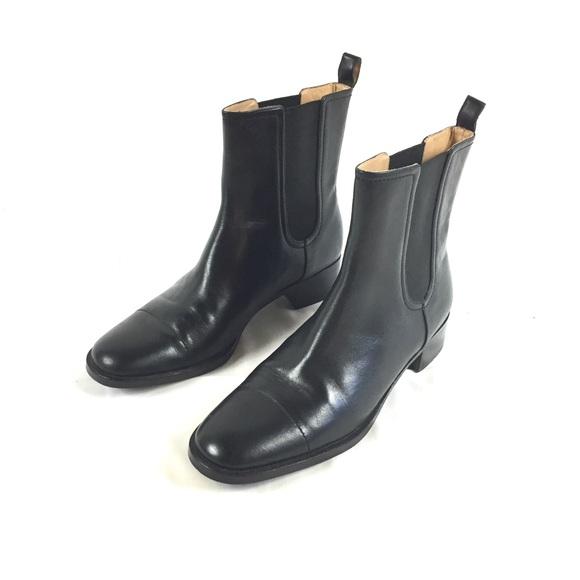 Lands End Nwot Leather Chelsea Ankle